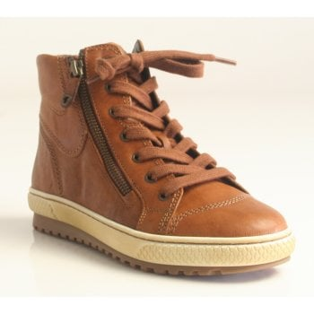 Gabor Leather Brown zip/lace Up Casual Ankle Boot (NT B70)