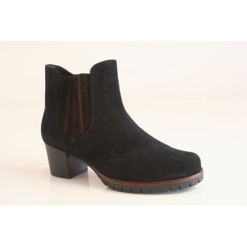 Gabor Navy suede ankle boot.  (NTB5)