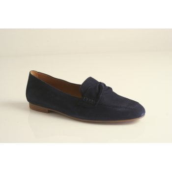 Gabor navy suede leather slip on shoe  (NT 75)