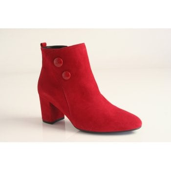 Gabor red suede ankle boot.  (NTB13)