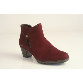 Gabor red suede ankle boot   (NTB15)