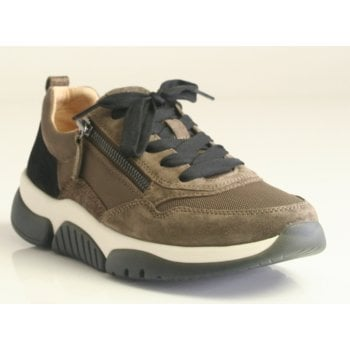 Gabor 'Rolling Soft' Black/Beige Luxe Trainers (NT 231)