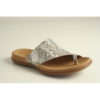 "Gabor sandal style ""Lanzarote"" in vanilla printed leather.  (NT98)"