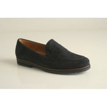 Gabor slip-on loafer in dark blue suede leather  (NTC)