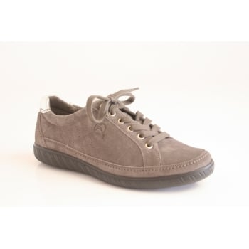 Gabor style 'Amulet' grey suede leather lace up   (NT3)