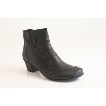Gabor style 'Georgie' black leather ankle boot