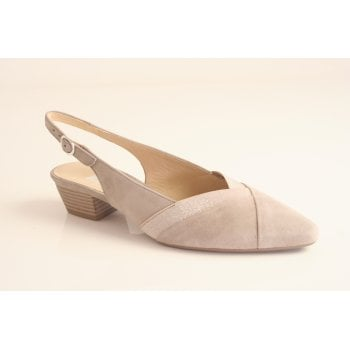 Gabor Gabor style 'Holistic' pale taupe suede leather sling back shoe  (NT36)