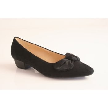 Gabor style 'Oceana' black suede leather court   (NT18)
