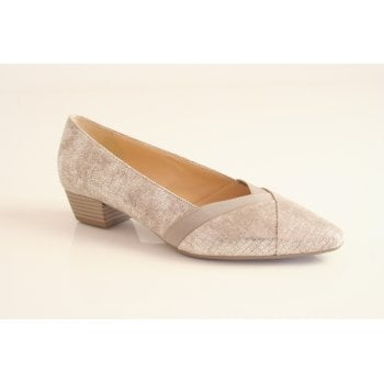 Gabor Gabor style 'Opera' nude metallic  leather slip on   (NT27)