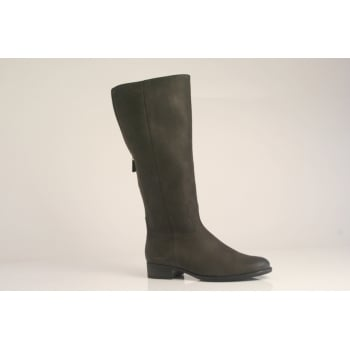 Gabor style 'Palmer' grey nubuck leather boot   (NTLB11)