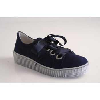 Gabor style 'Wright' navy blue suede leather lace up shoe