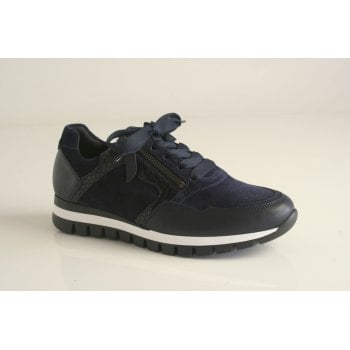 Gabor trainer style in navy leather (NT J)