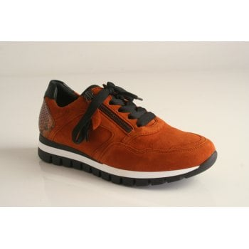 Gabor trainer style in tan nubuck leather (NT K)