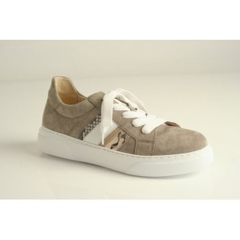 Gabor trainer style in taupe suede leather  (NT92)