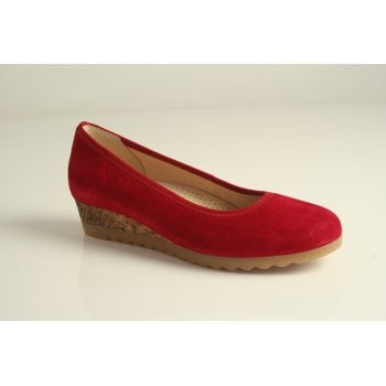 Gabor wedge style in red suede leather  (NT90)