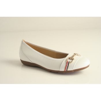 Gabor white nappa leather ballerina  (NT 73)