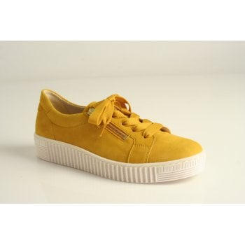 Gabor yellow trainer style with lace and zips  (NT88)