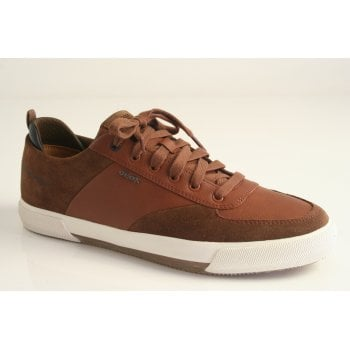 Geox 'Kaven A' brown suede and leather lace up