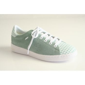 Geox light green suede leather lace up shoe.