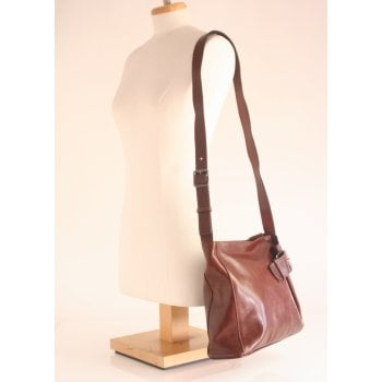 Gianni Conti handbag style 9403444 in high grade brown leather