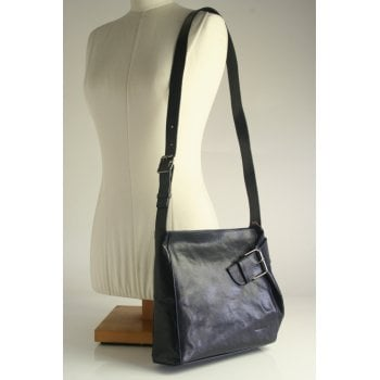 Gianni Conti handbag style 9403444 in high grade jeans blue leather