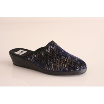 HB blue mule style fabric slipper (NT1)