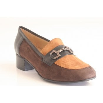 HB H.B. 'T.Moro' Suede Brown and Black Leather Moccasin (NT 62)