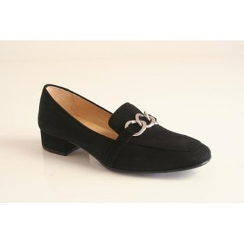 HB Italia black suede leather loafer (NT36)
