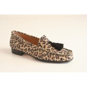 HB Italia leopard print suede moccasin (NT53)