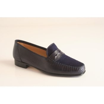 HB Italia Navy leather moccasin (NT52)