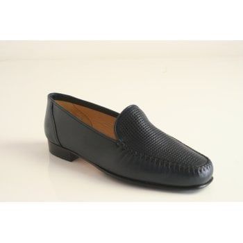 HB Navy blue Nappa Leather moccasin   (NT44)