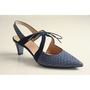Hispanitas Hispanitas™ navy blue shoe with a sling back   (NT65)