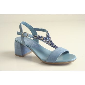 Hispanitas Hispanitas™ pale blue suede leather sandal    (NT63)