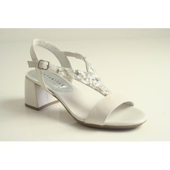 Hispanitas Hispanitas™ white leather dress sandal  (NT71)