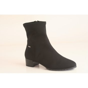 Hogl black stretch fabric waterproof ankle boot  (NTB34)
