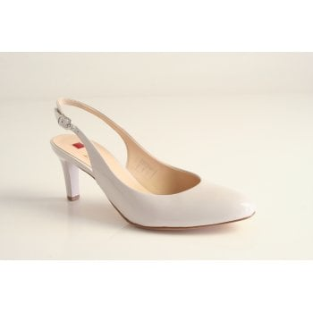 Hogl grey patent leather sling back court shoe  (NT26)