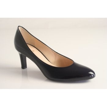 Hogl navy patent leather court shoe  (NT10A)