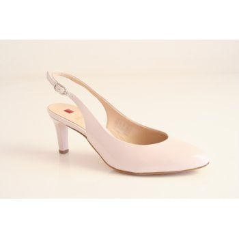 "Hogl ""nude"" patent leather sling back court shoe  (NT29)"
