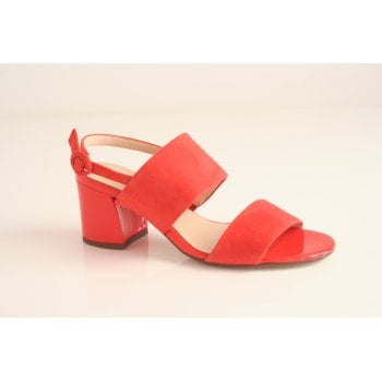 Hogl orange sandal with two straps and a block heel  (NT28)