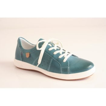 Josef Seibel azur blue leather lace up shoe  (NT83)
