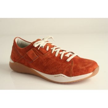 Josef Seibel burnt orange coloured suede leather trainer (NT43)