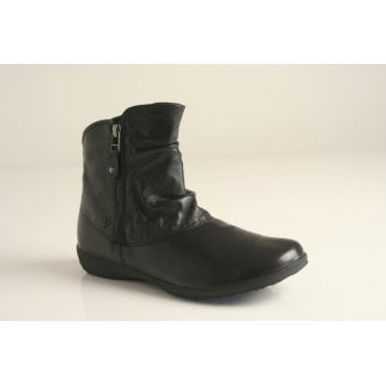 "Josef Seibel Joseph Siebel ""Naly 24"" Black Double zipped boot (NTB8)"