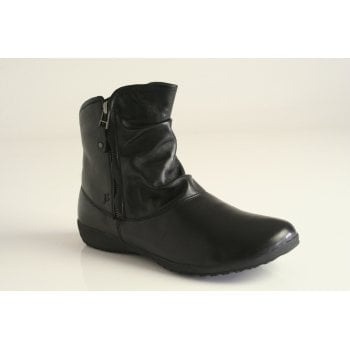 "Josef Seibel Joseph Siebel ""Naly 24"" Black Double zipped boot"