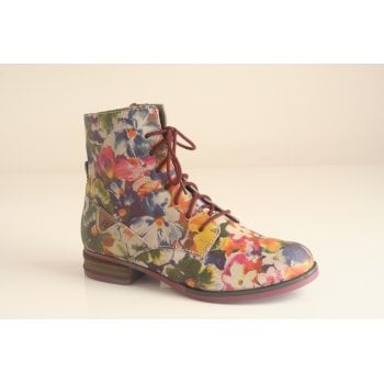 "Josef Seibel Joseph Siebel ""Sanja 01"" multi coloured lace and zip boot   (NTB14)"
