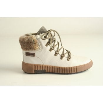 Josef Seibel Ladies style 'Maren 17' White lace up boot.  (NTB9)