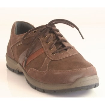 Josef Seibel Mens 'Lenny 51' Brown Multi Soft Leather/ Suede Lace-Up (NT 75)