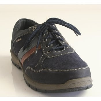 Josef Seibel Mens 'Lenny 51' Navy Blue Multi Soft Leather/ Suede Lace-Up (NT 74)