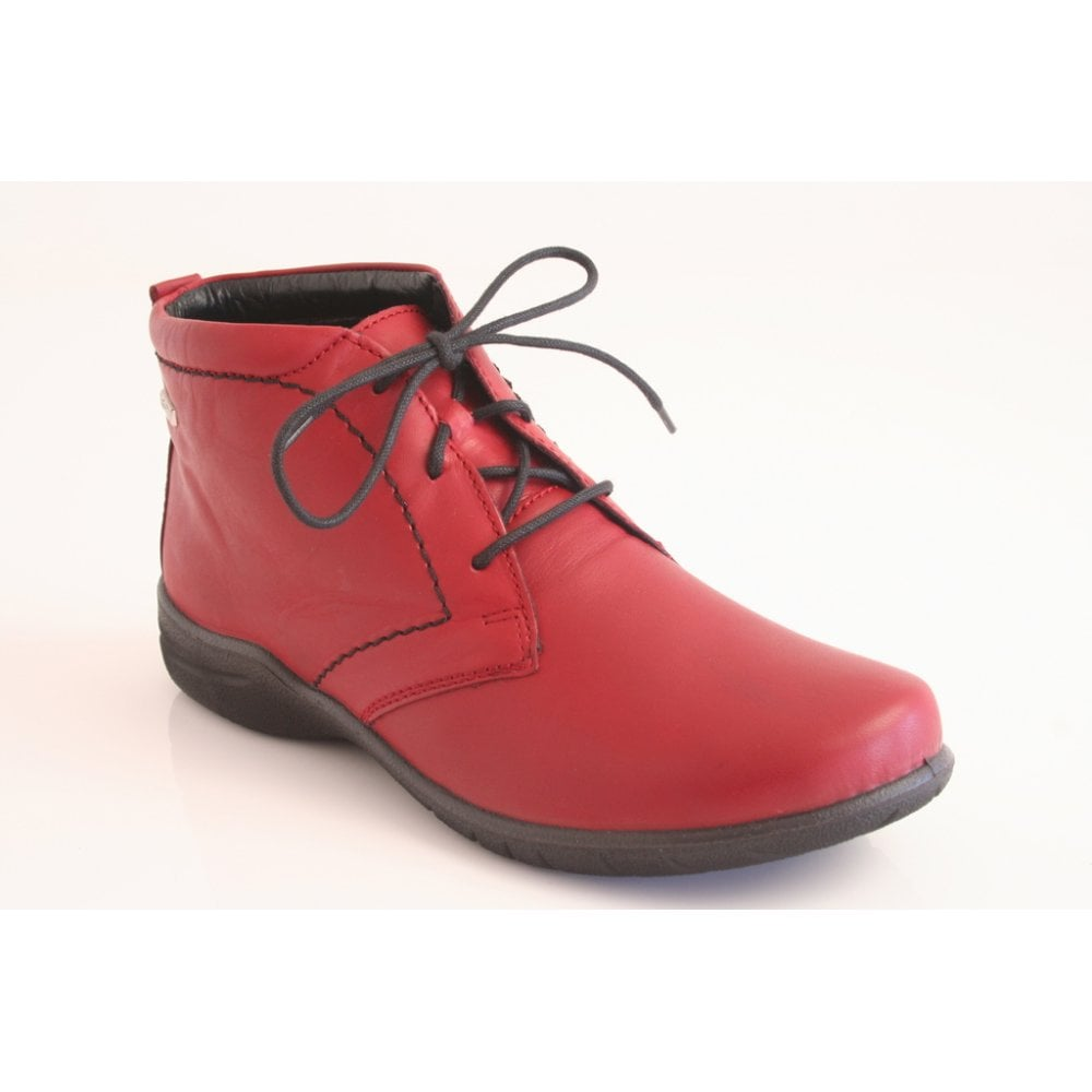 josef seibel red ankle boots authentic