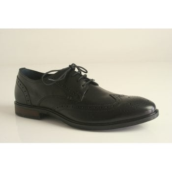 Josef Seibel style 'Jonathan 05' Black leather lace up brogue shoe (NT41)