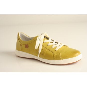 Josef Seibel yellow leather lace up shoe (NT67)